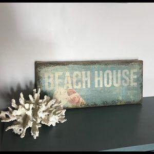 Beach House Canvas Art Sign